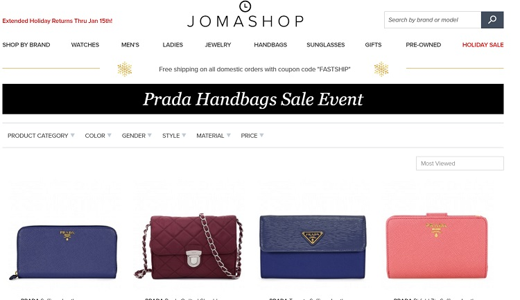 Prada Handbags Doorbuster Event